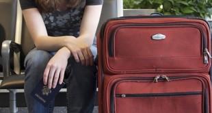 Zu große Koffer sind an Bord verboten
