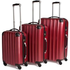 Dreigliedriges Kofferset rot